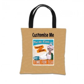 """Aardman Wallace And Gromit """"Put The Kettle On"""" Tote Bag"""