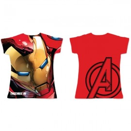 Adult Fitted Tee - Marvel Avengers Assemble Iron Man