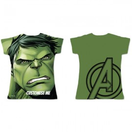 Adults Fitted Tee - Marvel Avengers Assemble Hulk