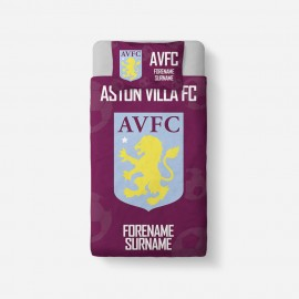 Aston Villa FC Crest Duvet Cover & Pillowcase