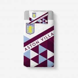 Aston Villa FC Patterned Duvet Cover & Pillowcase