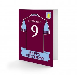 Aston Villa FC Shirt Birthday Card