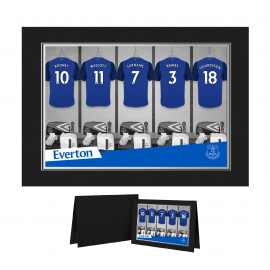 Everton FC 9x6 Dressing Room Photo Folder