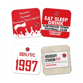 Fleetwood Town FC Coasters