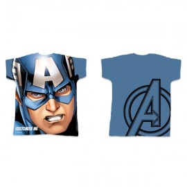 Marvel Avengers Assemble Captain America 11/12 Years Kids Fitted T-Shirt