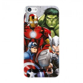 Marvel Avengers Assemble Group Scene iPhone 5C Clip Case