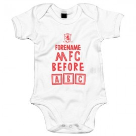 Middlesbrough FC Before ABC Baby Bodysuit