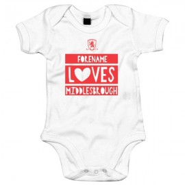 Middlesbrough FC Loves Baby Bodysuit