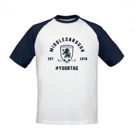 Middlesbrough FC Vintage Hashtag Baseball T-Shirt