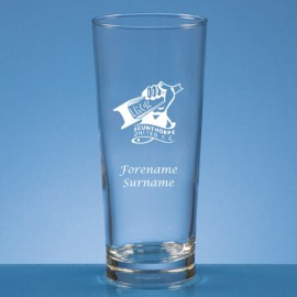 Scunthorpe United FC Crest Straight Sided Beer Glass