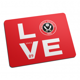 Sheffield United Love Mouse Mat