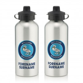 Wycombe Wanderers Bold Crest  Water Bottle